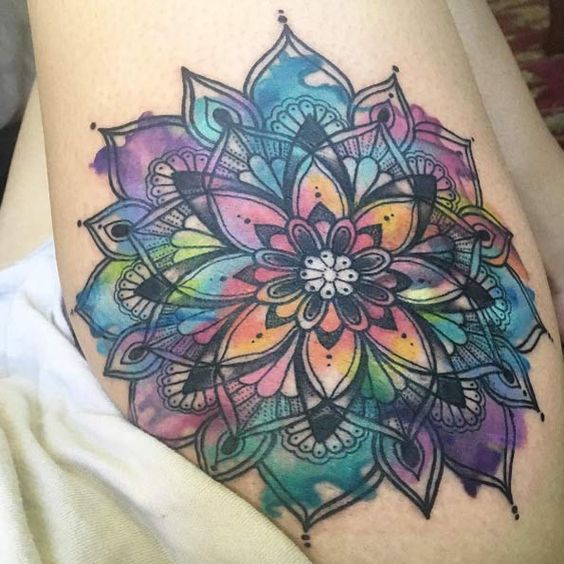 60 gorgeous mandala tattoos you 39 ll wish were yours mandala tattoo jewel tattoo and arm tattoo. Black Bedroom Furniture Sets. Home Design Ideas