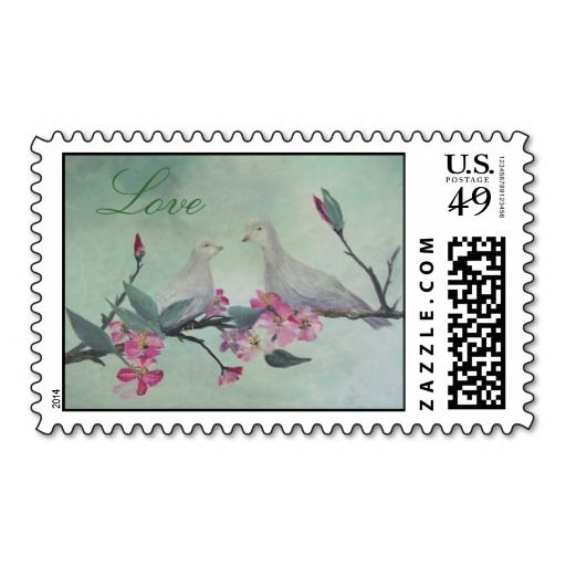 Love Doves POSTAGE STAMPS