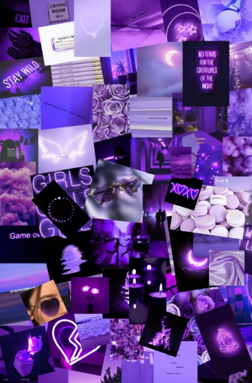 Purple Wallpaper Collage