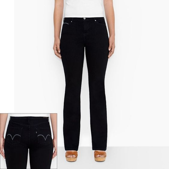 Details about Levi's 512 women's bootcut jeans perfectly slimming ...