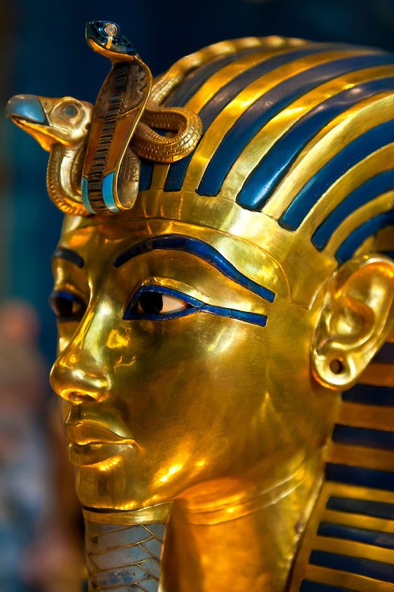 ♔ Gold Mask of of King Tut ~ Egyptian Museum ~ Cairo ~ Egypt