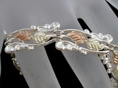 Black Hills Gold 12K Sterling Silver Signed Coleman Co Estate Bracelet Vintage | eBay