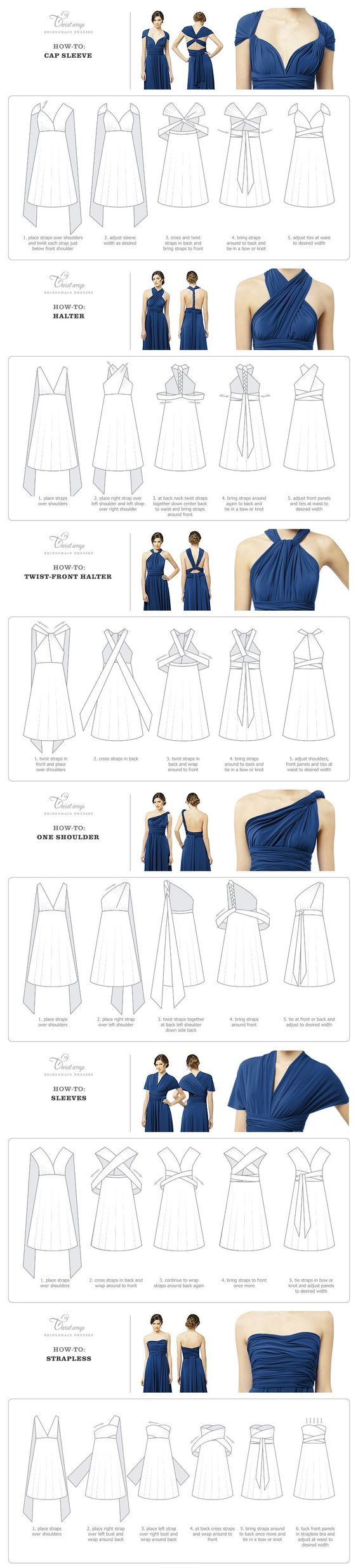 Infinity dress - How-To-Wear Instructions - will have to add one of these to my closet at some point.