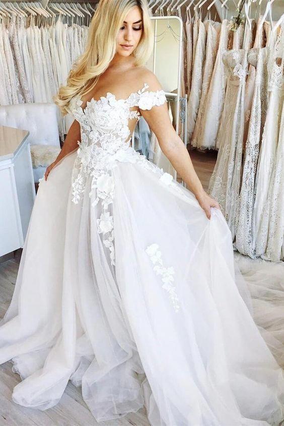 42++ Off the shoulder lace wedding dress ideas ideas