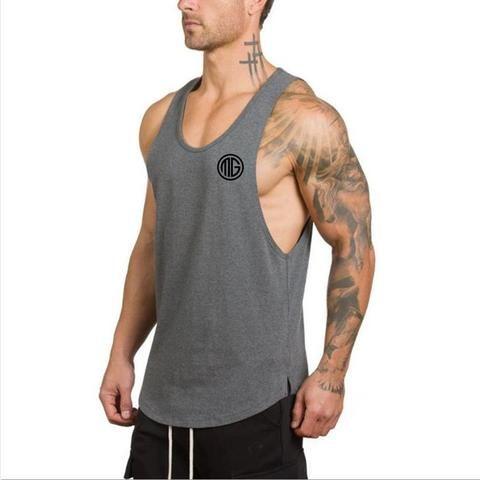 More Mile Mens Sleeveless Running Top Singlet Vest Tank Top Gym Sports