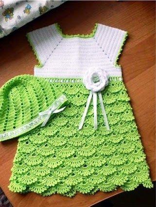 vestidinho em croche para bebe em croche com receita