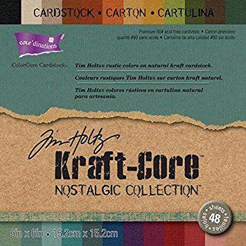 Darice Gabarit d'embossage Core 'dinations Papier Kraft Core par Tim Holtz 15,2cm x 15,2cm 48/pkg-nostalgic
