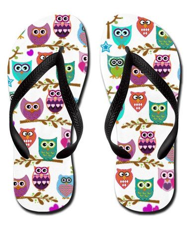 Look at this #zulilyfind! White Owls Flip-Flop #zulilyfinds