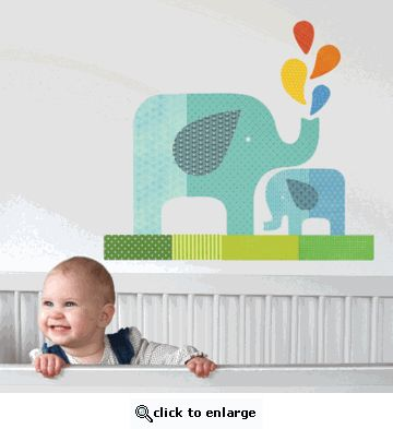 OH my gosh - I might have to re-think my wall scheme for the baby's room...