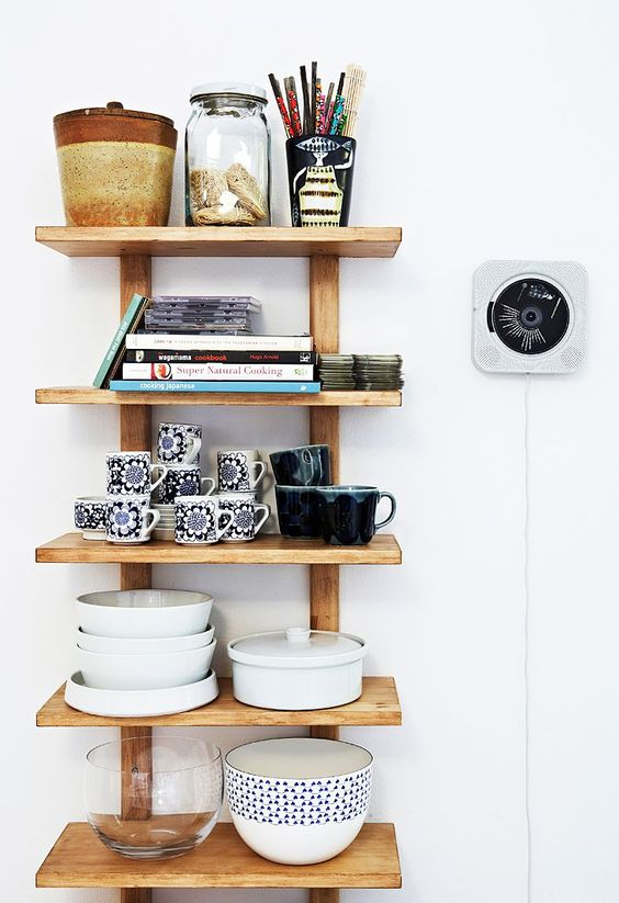 Shelfs for kitchen supplies