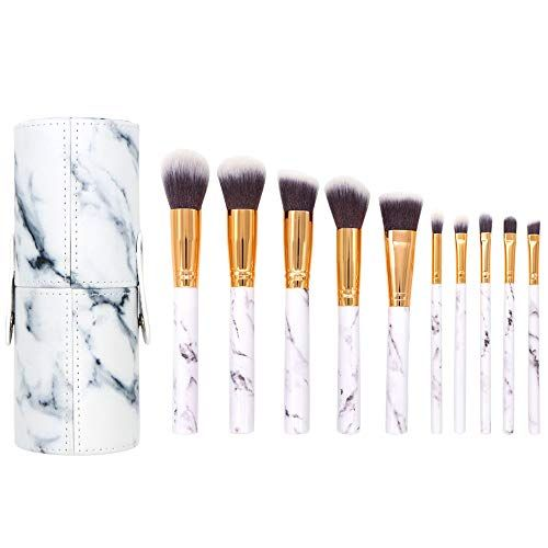 Makeup Brushes Sets 10 Pieces Marble Make Up Brush Face E Https Www Amazon Com Dp B07h Makeup Brush Set Professional Makeup Brush Set It Cosmetics Brushes