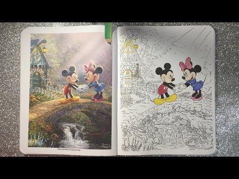 Coloring In Disney Dreams By Thomas Kinkade Sweetheart Bridge Part 1 Youtube Thomas Kinkade Disney Coloring Books Disney Dream