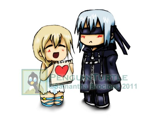 Riku and Namine Chibis by PenguinTurtle on DeviantArt
