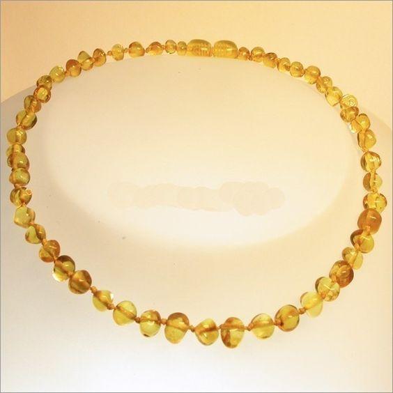 Collana di ambra per aiutare la dentizione dei pupi, antinfiammatorio delle gengive pure!