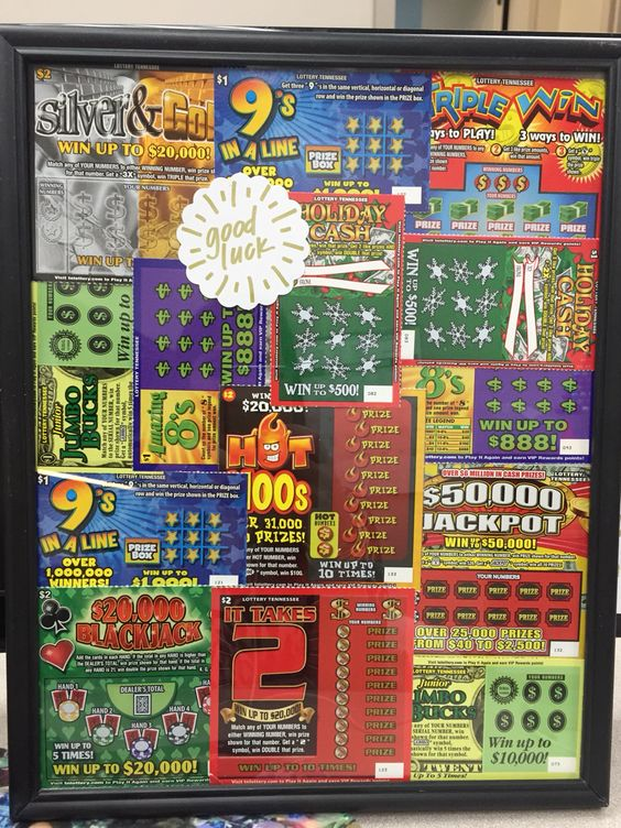 $20 Dirty Santa Gift: cheap frame from the dollar store filled with lottery tickets!:
