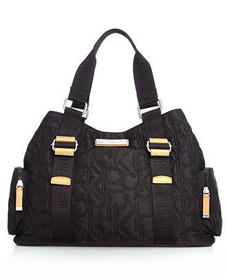 Calvin Klein Handbag, Quilted Nylon Tote - Calvin Klein - Handbags & Accessories - Macy's