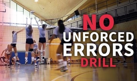 Drill To Reduce Unforced Errors And Win Big Points Learntennis Coaching Volleyball Volleyball Training Volleyball Practice