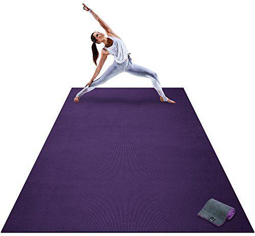 Premium Extra Large Yoga Mat 9 X 6 X 8mm Extra Thick Comfortable Non Toxic Non Slip Barefoot Exercise Mat Yoga Stretching Cardio Workout Mats Home Large Yoga Mat