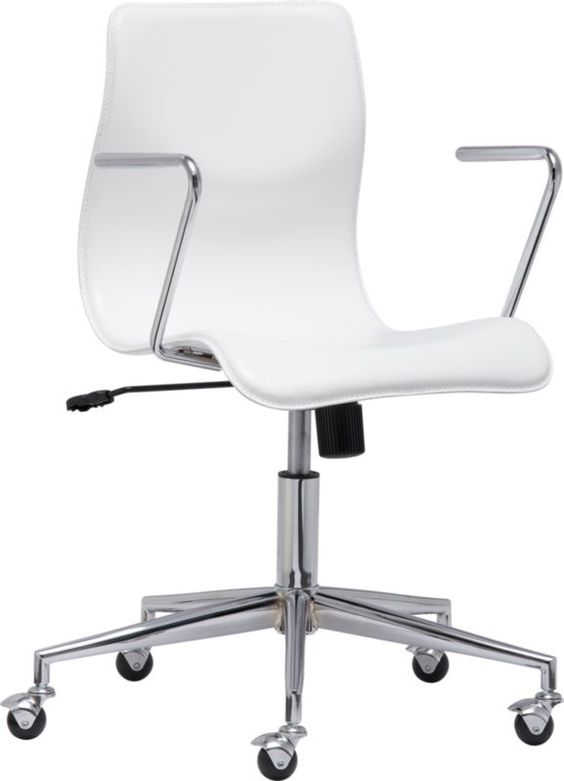 bubble white leather office chair in office furniture cb2 229 bubble white leather black and white office furniture
