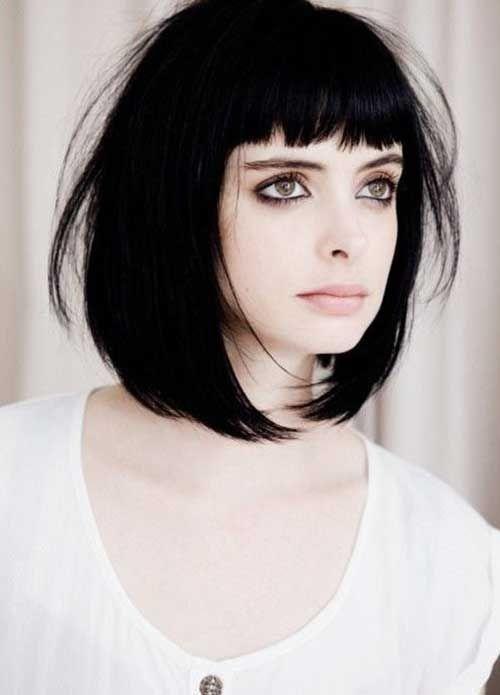 15 Trendy Bob Haircut With Bangs Inspiration Style In 2018 Fazhion Kurze Gerade Frisuren Haarschnitt Frisuren 2014