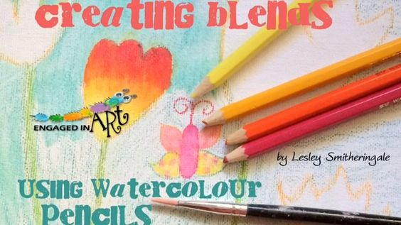 How to use watercolour pencils to create beautiful colour blends. Children of all ages can enjoy using these.