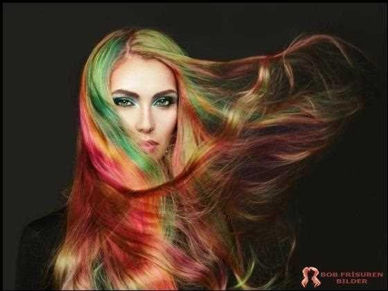 Verschiedene haarfarben ausprobieren