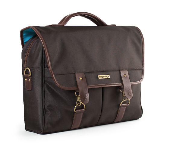 Maletín Messenger Bag Portalaptop Daybag lona café