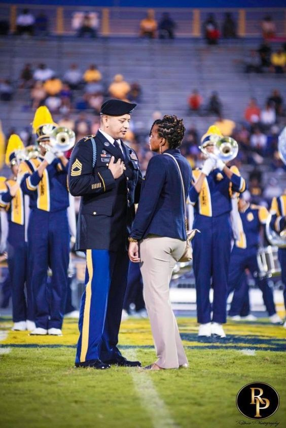 Proposal with College Marching Band (2)