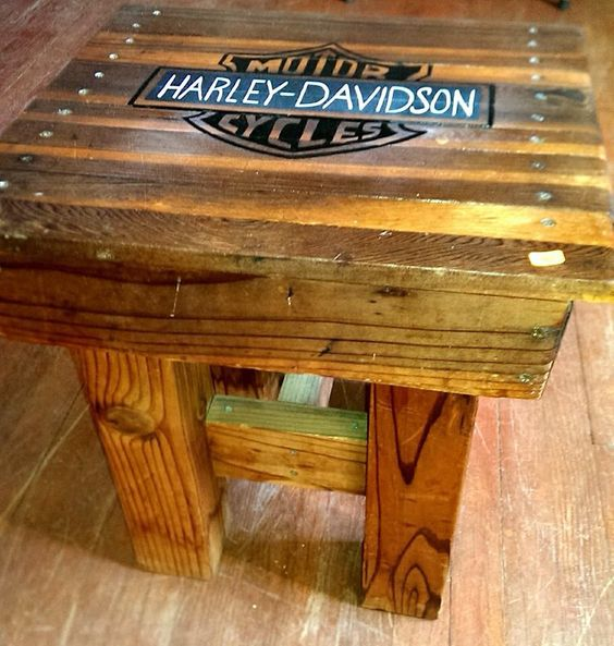 Harley davidson table diy old coffee table my actual for Coffee table craft ideas