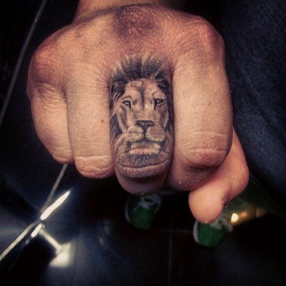 Lion finger tattoo my future pinterest posts for Finger lion tattoo