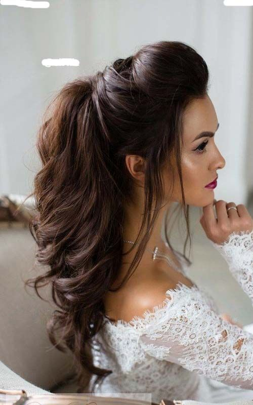 Chic And Stylish Hairstyles For Long Curly Hair Long Bridal Hair