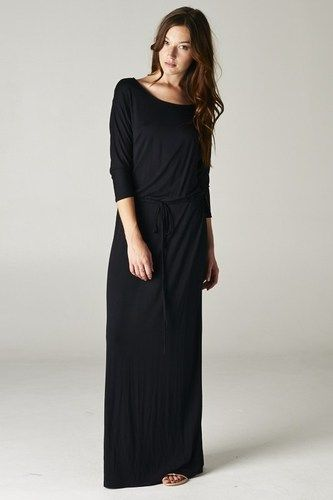 Black T Shirt Maxi Dress Photo Album - Reikian