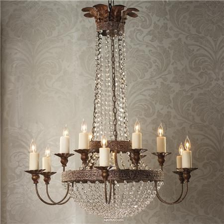 Crystal chandelier for dining room. Add existing chandelier over ...