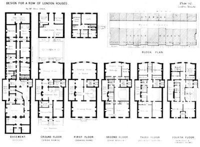 town houses in Belgravia full floor plan    n interiors    town houses in Belgravia full floor plan