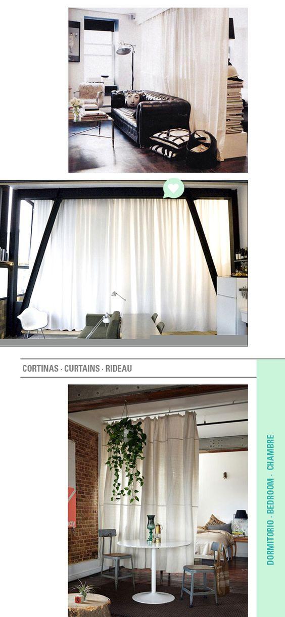 Cortinas para separar ambientes des rideaux pour s parer for Cortinas para separar ambientes