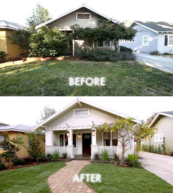 8 small homes get huge facelifts small homes home and for Small house remodel before and after