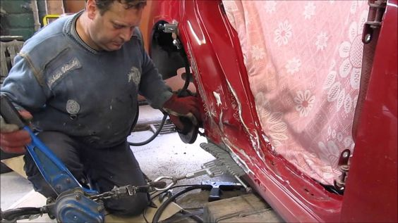 http://strictlyforeign.biz/ Toyota. The body side repair. Ремонт бока .
