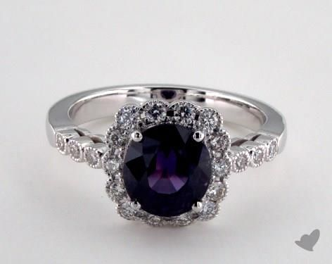 18K White Gold - 2.78ct  - Purple