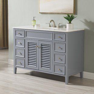 48 Inch Bathroom Vanities At Great Prices Wayfair Single Bathroom Vanity Bathroom Vanity 48 Inch Bathroom Vanity