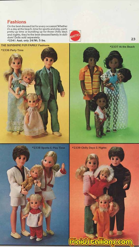 The Sunshine Family - I never played with the parents - the kids became Barbie's children!