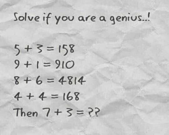 Solve if you are a genius!!!