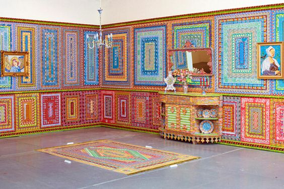 Art made from lottery tickets