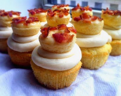"The Ultimate Maple Bacon Peach Donut Cupcake"" #bacon"