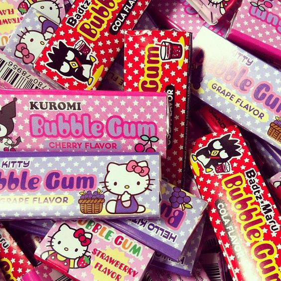 Sanrio bubble gum!: Bubble Gummmmm, Adorable Kitty, Kitty Gum, Foods Sweets And, Fun Stuff, Candy Sweet