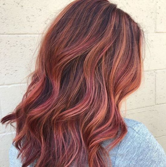 25 Cute Hair Highlights Ideas For All Hair Shades Society19 In 2020 Red Highlights In Brown Hair Colorful Highlights In Brown Hair Hair Highlights