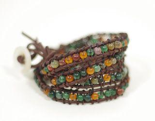 SewPetiteGal: Leather Wrap Bracelet DIY w/ Tutorial - Version 2
