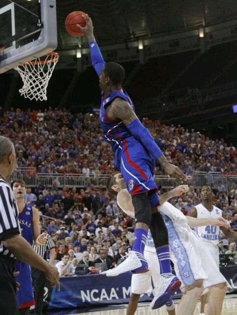 Kansas upsets UNC for a spot in the Final Four.
