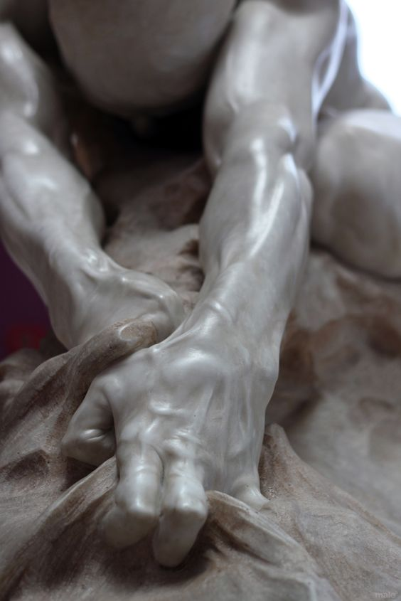 """Marble hands: """"How such art can be so sensuously and realistically rendered from such an unmalleable medium as marble, is nothing short of miraculous!""""//"""