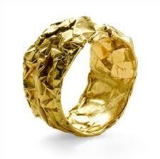 "Gold ring called ""Chocolate ring"". Designer: Emquies-Holstein - great texture!"