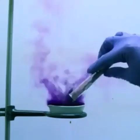The Colorful Reaction Of Molten Sodium And Iodine